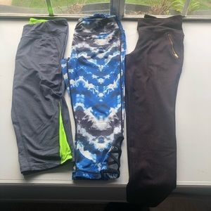 Lot of Three Workout Capris/Pants